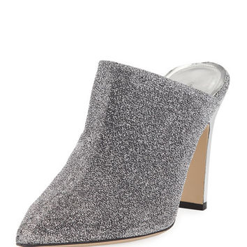 Paul Andrew Truitt Metallic Fabric Mule Pump