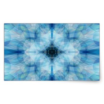 Scattered Petals Rectangular Sticker