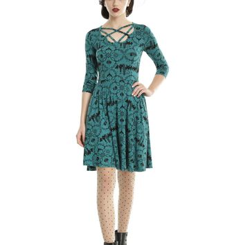 Licensed cool Harry Potter Fantastic Beasts And Where To Find Them Green Strappy Dress JRS S M