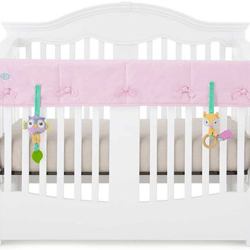 Pink Organic Crib Rail Cover - Wide Rail