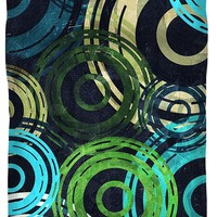 Concentric Intensity - Blue Duvet Cover for Sale by Shawna Rowe - Queen