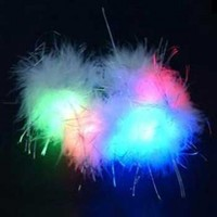 Flashing Panda White Feather LED Flashing Multicolor Raving Bracelet
