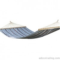Adeco Naval-Style Cotton Fabric Canvas Hammock Tree Hanging Suspended Outdoor Indoor Bed Naval Blue Color 63 inches Wide