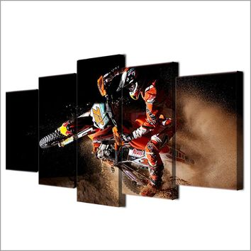 Dirt Bike Motocross Canvas Print - Wall Art Decor