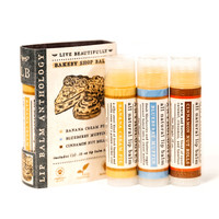 Bakery Shop Lip Balm Set - All Natural Collection of 3 Flavors