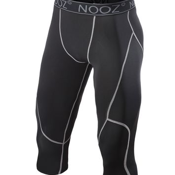 Nooz Men's Pro Compression 3/4 Legging Tights