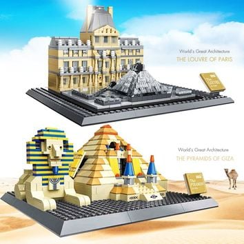 World Great Architecture Building Toys Blocks Bricks Set City Buildings kits Assembly Toys for Children Models Compatible lepin