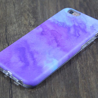 Abstract Watercolor Purple Tough Protective iPhone 6s Case iPhone 6 plus S7 Edge SE Snap Case 3D 206