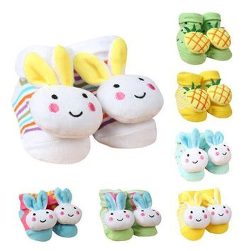 NOVO5 Baby socks Cartoon Newborn Baby Girls Boys Anti-Slip Socks Slipper Shoes Boots
