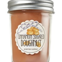 Mason Jar Candle Cinnamon Sugared Doughnut
