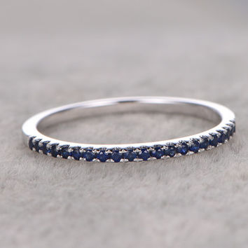 Best Blue Sapphire Wedding Band Sets Products On Wanelo