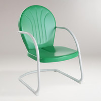Green Durresi Metal Chair - World Market
