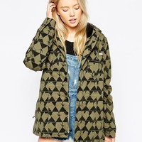 RVCA Printed Hooded Rain Trench
