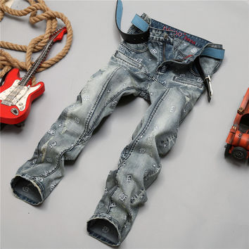 Design Stylish Pants Embroidery Jeans [6541848451]