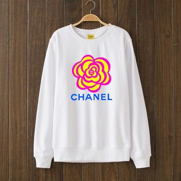 CHANEL Flower Woman Men Top Sweater Pullover