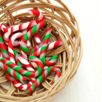 CHRISTMAS in JULY SALE Christmas Candy Canes, Red White and Green Canes, Christmas Decoration, Ornament, Lot