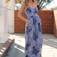 Written In The Stars Maxi, Navy