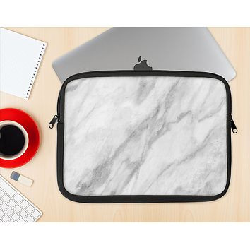 The White Marble Surface Ink-Fuzed NeoPrene MacBook Laptop Sleeve