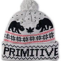 Primitive Jolly Bear 2 Pom Beanie