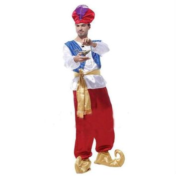 Lamp Aladdin Role-Playing Costumes Halloween Arab Clothing Carnival Holiday Party Dress Aladdin Traditional Uniform