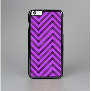 The Purple & Black Sketch Chevron Skin-Sert for the Apple iPhone 6 Plus Skin-Sert Case