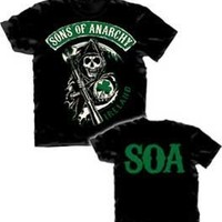 Sons of Anarchy SOA Ireland Reaper Logo Adult Black T-Shirt