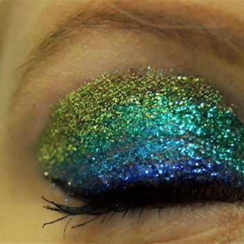 Green and Blue Glitter Eyes Makeup Kit
