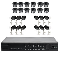 Security Surveillance DVR Kit - 1080p, 1TB HDD Included, 24 Channels, 12x Indoor Cameras, 12x Outdoor Cameras, IP66 Weatherproof