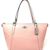 Coach Crossgrain leather AVA Tote bag in Blush2