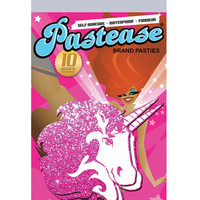 Pastease Unicorn Hot Pink Glitter On White O-s