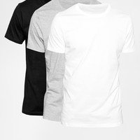 ASOS Slim Fit T-Shirt With Crew Neck 3 Pack SAVE 22%