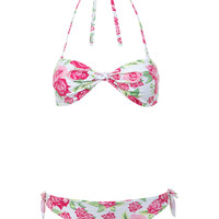 Floral Knot Bandeau Bikini - Holiday Shop - Clothing - Miss Selfridge