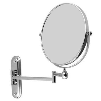 Floureon 8 inches Double-sided Wall Mount Mirror Cosmetic Make up Shaving Bathroom Mirror (10x Magnification)