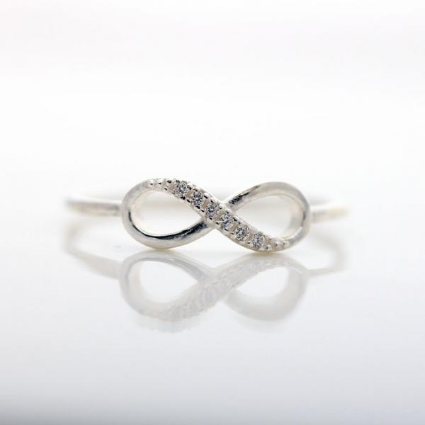 INFINITY ring in sterling silver by bythecoco on Zibbet