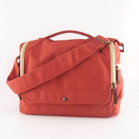 Messenger bag / laptop / men / orange / canvas messenger bag / shoulder bag / handbag / Wich
