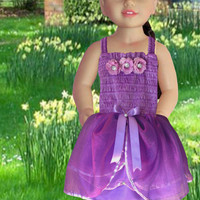 American girl doll clothes, 18 inches dolls, Dolls purple fancy dress, Dolls princess dress, Girls Christmas gift, Girls Birthday gift