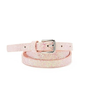 Glitter Faux Leather Belt
