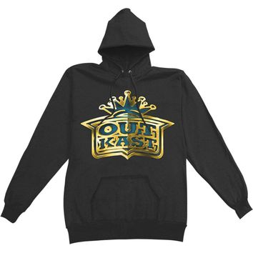 Outkast Men's  Gold Crown Logo Mens Pullover Hoodie Hooded Sweatshirt Black