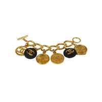 Chanel Resin and Gold Charm Bracelet