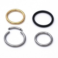 Nostril Nose Ring Unisex Lip Ear Cartilage Septum Ring Hoop Stud Steel Piercing Clip on Earrings Body Jewelry