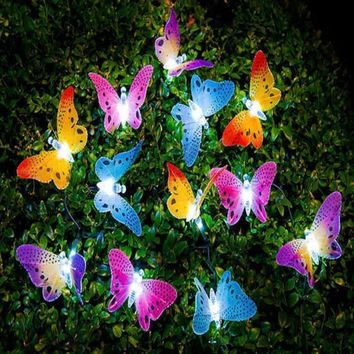12 LED Solar Powered Butterfly light