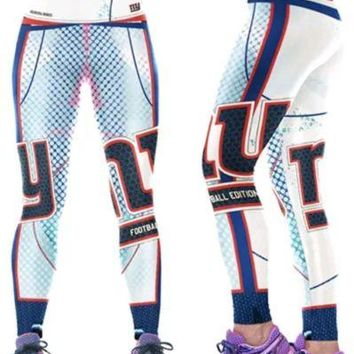 New York Giants Womens Leggings L/XL Football Athletic Yoga Stretchy NWT