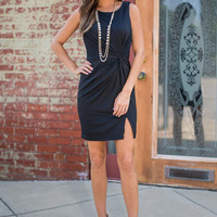 Twist Tied To Elegance Dress, Black