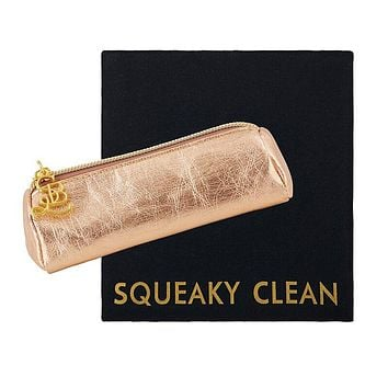 Squeaky Clean Mini Case w/ Cloth in Gold