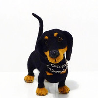 Needle felted Dog MADE TO ORDER Needle felted animal Miniature sculpture HandmadeFelt doll Dog as a gift Dog animal Dachshund