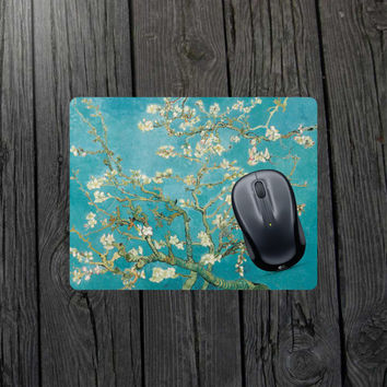 Branches of an Almond Tree In Blossom mouse pad Van Gogh mouse pad Van Gogh painting Almond blossom Starry night mouse pad