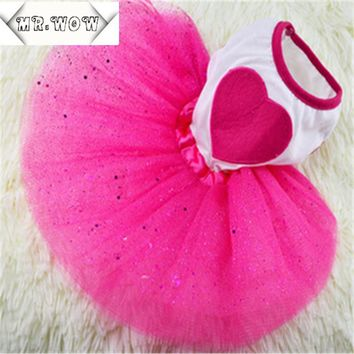 2015 New Spring and Summer Pet Dress Teddy Princess Dog Dresses Lovely Dresses For Dogs Suitable Pet Clothes Free shipping