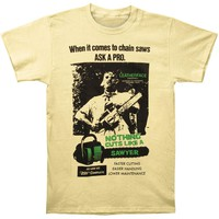 Texas Chainsaw Massacre Men's  Cuts Like Sawyer Slim Fit T-shirt Banana