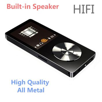 Original HiFi MP3 Player with Speaker Metal High Quality 8GB/16GB Lossless Music Player Supports 128GB Memory Card with FM Radio
