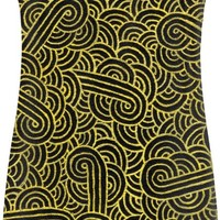 Faux gold and black swirls doodles Simple Dress